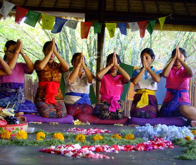 Balinese Ceremony Yoga Here & There