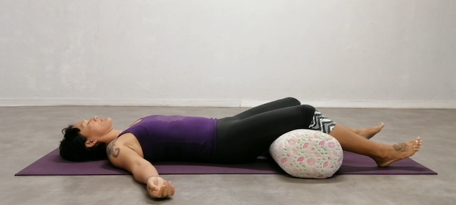 Savasana with lower back support
